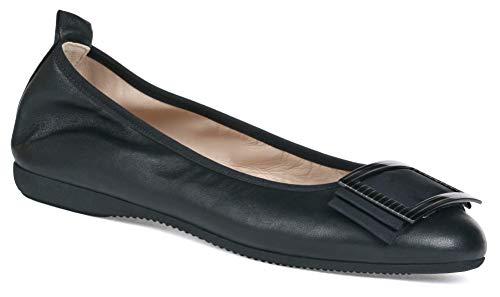 2346cdba5ab2f La Ballerina Beatrice Nappa Leather Black with Subtle Buckle Black Size: 5  UK
