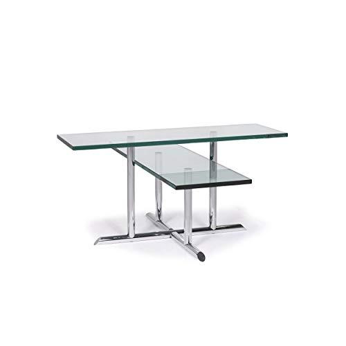 Rolf Benz Glas Couchtisch Silber Tisch #11951