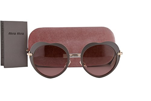 Miu Miu Frau MU54RS Sonnenbrille w/Violet Gradient Lens U6H5P1 SMU 54R matte Beige groß