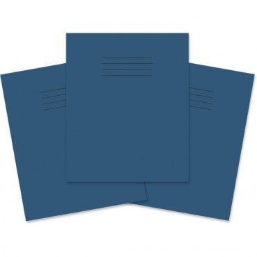 SCHOOL EXERCISE BOOKS 8mm LINES with Margin BLUE COVER A5 48 Page 163 x 202mm 'Pack of 5'