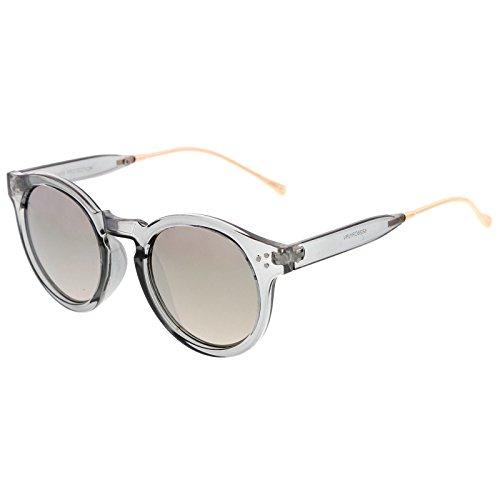 sunglassLA -  Occhiali da sole  - Rotondo - Uomo Smoke-Gold / Silver Mirror Taglia unica