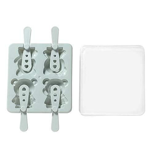 Ice Cream Tubs - Creative Cartoon 4 Compartment Ice Box Maker Cream Popsicle Mould. - Cream Freezer Lids Disposable Tubs Reusable Girls Cream Tubs Rust Sponge Dish Magic Melamine Foam Plasti - Freezer Cleaner