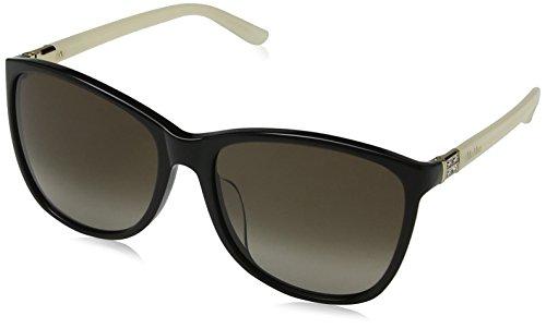 Max mara mm oblo ir 21g 49, occhiali da sole donna, oro (havana gold/grey blue)