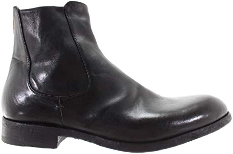 hommes 12000h pantanetti chaussures bottes de cuir noir à