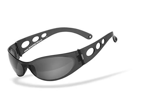 Helly® - No.1 Bikereyes® | UV400 Schutzfilter, HLT® Kunststoff-Sicherheitsglas nach DIN EN 166 | Bikerbrille | Brillengestell: transparent, schwarz matt, Brille: pro street
