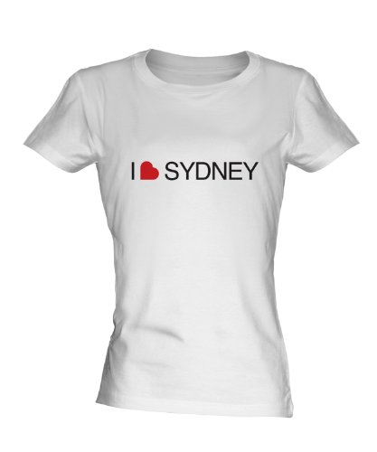 i-love-sydney-ladies-white-t-shirt-fitted-t-shirt-top-size-medium-colour-white