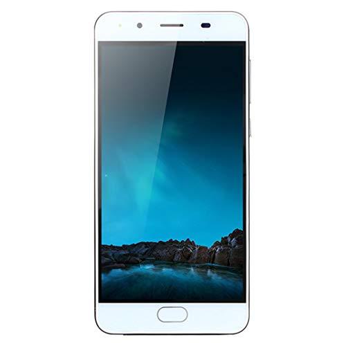 samLIKE ohne Vertrag Smartphone Ultradünn Günstig Handy Ultra-HD-Bildschirm 5,0 Zoll Android Cell Phone Quad-Core 512MB + 4GB GSM, mit Dual-Kamera + Dual-SIM, 3G + WLAN (Schwarz)