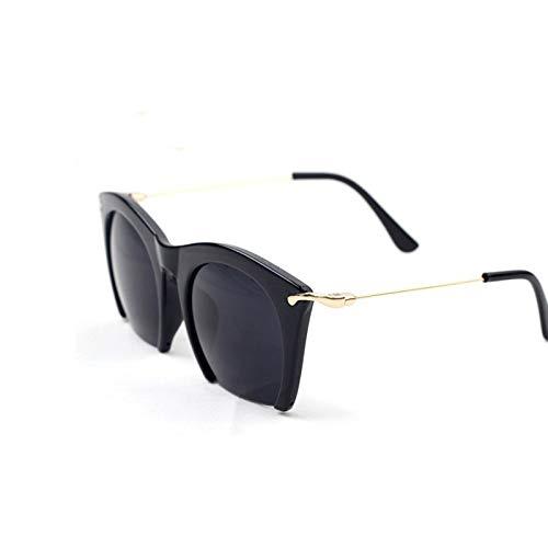 YLYZJH Halbrand Sonnenbrillen Cat Eye Shades Linsen Half Frame Brille Frauen Getönte Sonnenbrille Tragen Schwarze Party Sonnenbrille