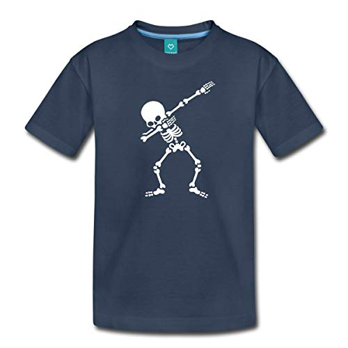 Spreadshirt Dab Skelett Dabbing Gerippe Halloween Teenager Premium T-Shirt, 158/164 (12 Jahre), ()