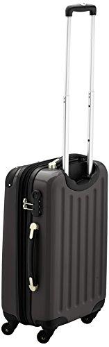 HAUPTSTADTKOFFER - Alex - Handgepäck Hartschalen-Koffer Trolley Rollkoffer Reisekoffer Erweiterbar, 4 Rollen, 55 cm, 42 Liter, Graphit - 3