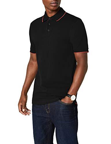 James & Nicholson Herren Poloshirt Polo Campus schwarz (black/red) XX-Large