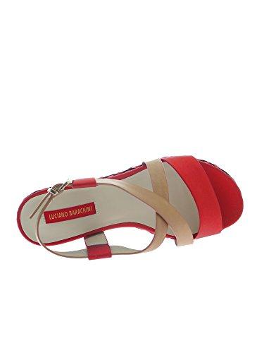 LUCIANO BARACHINI 8012 C Sandalo Donna Camel/rosso