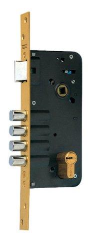 azbe 5434D50-5 8912 Schloss für Zylinder, HS-6, für 5 Schlüssel, M3, 50 mm