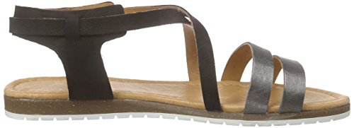 Apple of Eden Damen Mila Offene Sandalen Schwarz (Black/Black)