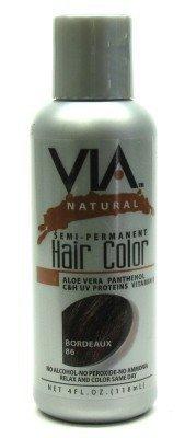 Via Natural Beizen Haarverlängerung Farben erhältlich-Farbe 86(bordeaux)-120ml