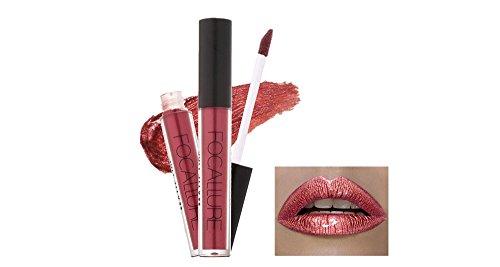 Tefamore FOCALLURE Maquillaje Lápiz Labial Lipstick Cosméticos Mujeres Nueva Moda Labios Mate Lustre Fiesta(Muchos Colores)