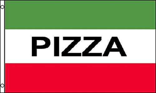 AZ FLAG Italian Pizza Flag 3' x 5' - pizzeria flags 90 x 150 cm - Banner 3x5 ft