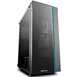 DeepCool MATREXX 55 Midi-Tower Black computer case - Computer Cases (Midi-Tower, PC, Plastic, SPCC, Tempered glass, ATX,EATX,Micro-ATX,Mini-ITX, Black, 0.6 mm)