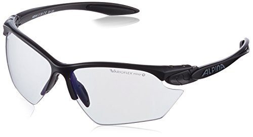 ALPINA Erwachsene Twist Four S VLM+ Outdoorsport-Brille, Black Matt, One Size