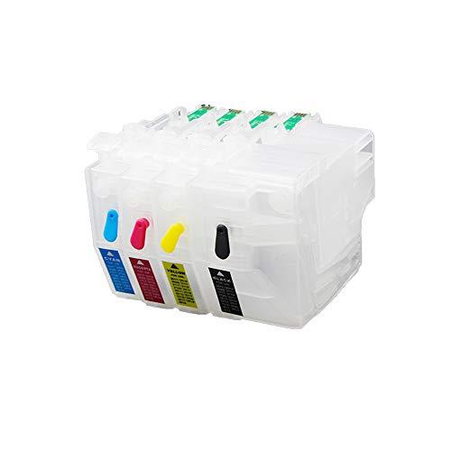 Teng® 4 x Cartuchos Impresora vacíos rellenables