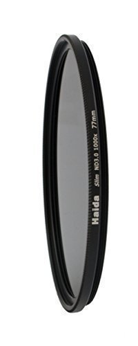 Slim Graufilter ND1000 77mm.Schlanke Fassung + Pro Lens Cap mit Innengriff