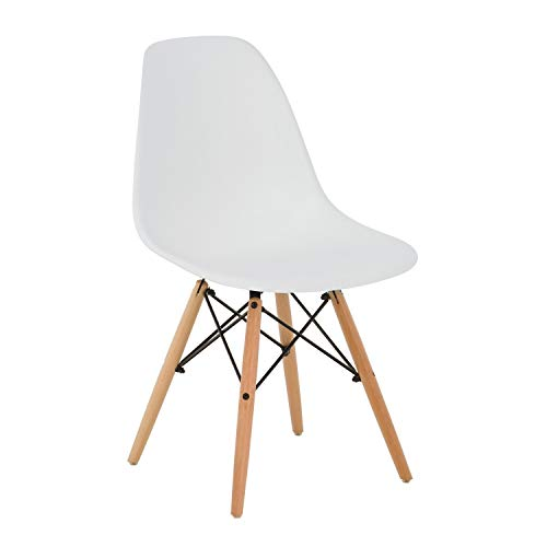 SKLUM Silla Brich Scand Blanco Madera Natural