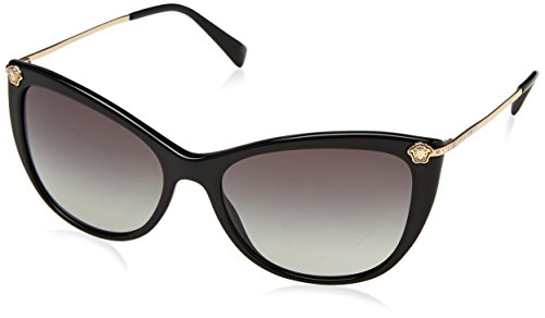 Versace 0ve4345b gb1/11 57, occhiali da sole donna, nero (black/gradient)