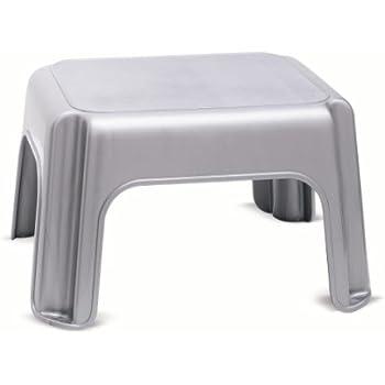 ADDIS Step Stool Metallic  sc 1 st  Amazon UK & Curver Step Plastic - White 20 cm: Amazon.co.uk: Kitchen u0026 Home islam-shia.org