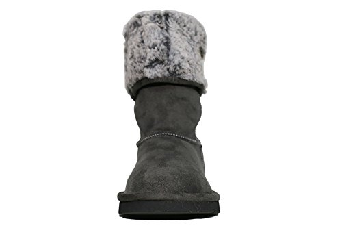 Replay Loner Stiefel Bootes Winter Gefüttert Damen Dunkelgrau