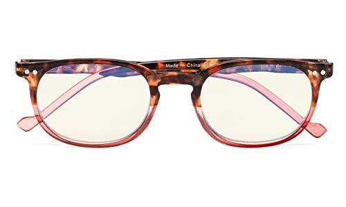 Eyekepper Jahrgang UV Schutz Computer lesen Brille Redaers (Tortoise-Red, 1.00)