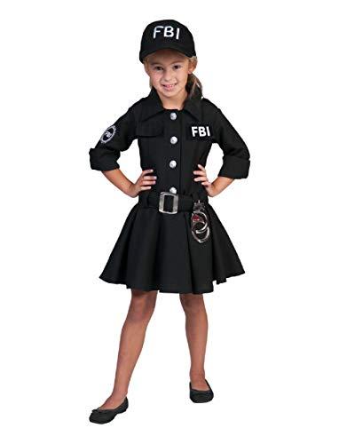 FBI Agent Kostüm Polizistin für Mädchen Gr. 152