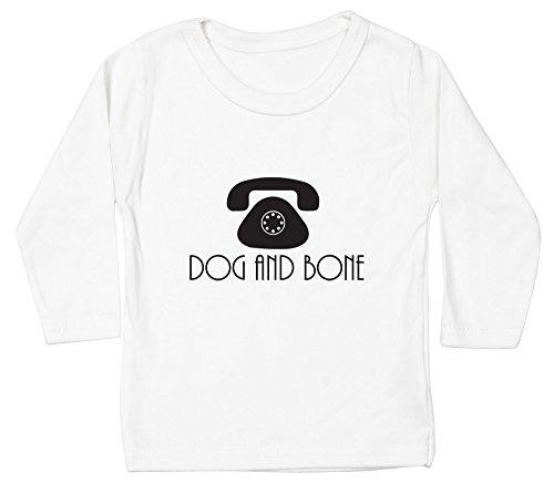 Hippowarehouse Dog and Bone Baby Unisex t-Shirt Long Sleeve