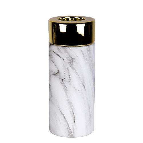 Kerzenhalter und Vase Juna in Kupfer & Gold (Kerzenhalter L (Gold))