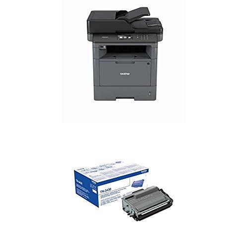 Brother DCP-L5500DN DCP A4 mono Laserdrucker (40 Seiten/Min., Drucken, scannen, kopieren, 1.200 x 1.200 dpi, Print AirBag für 200.000 Seiten) + Original Tonerkassette TN-3430 schwarz