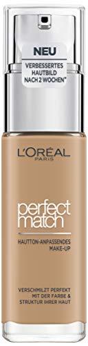 L'Oréal Paris Perfect Match Foundation, flüssiges Make-Up, deckend und feuchtigkeitsspendend für einen natürlichen Teint - 6N honey (30 ml) -