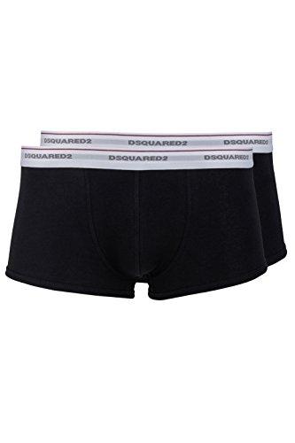 Dsquared² Herren Unterwäsche 2er Deck package, Boxershort, Trunks, Farbe: Grau, Dunkelblau, Schwarz, Weiß, JERSEY COTTON STRETCH