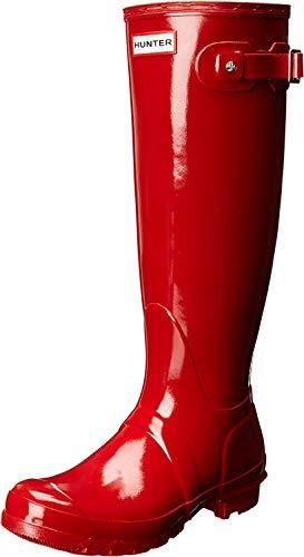 Hunter Tall Gloss, Botas de Agua para Mujer, Rojo (Military Red), 39 EU
