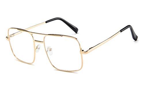 Alittle Damen Herren Classic Nerd Brille 82er Jahre Klarglas Mode übergroße Nerd Geek Style Brille (schwarzer runder Rahmen)