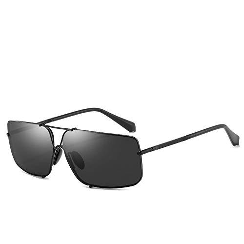 Yiph-Sunglass Sonnenbrillen Mode Sonnenbrille Classic Polarized Frameless Square Brille zum Angeln Fahren im Freien mit Harzgläsern Schwarze Sonnenbrille (Farbe : C2, Größe : Free)