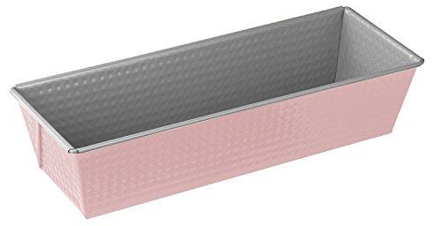 Zenker Königskuchenform 30 cm Candy, traditionelle Backform für köstliche Backkreationen, Backform mit Antihaftbeschichtung (Farbe: silber/rosa), Menge: 1 Stück
