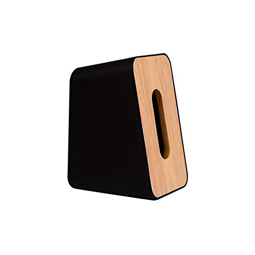 Ruiting Caja de pañuelos de Madera Negro Estilo Vertical Inicio servilleta dispensador de Papel sostenedor del Organizador de la Caja de la servilleta de Madera