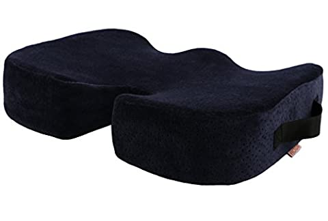 Vector Orthopedic Memory Foam Seat Cushion for Back Support, Sciatica Relief, Tailbone, Coccyx & Hip Pain - Ideal for Office Chair, Car Seat Pillow & WheelChair. Also used as Seat Booster. Best Present For Your