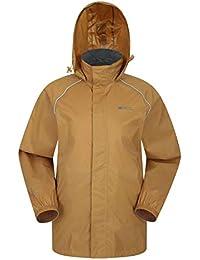 Mountain Warehouse Veste imperméable Pakka pour homme - Veste à capuche  pliable, Manteau à haute 7b05416b12a
