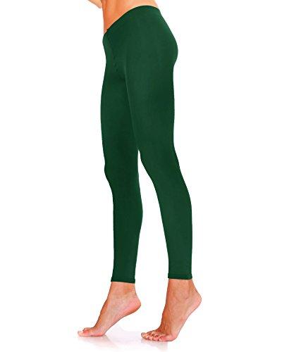 Lady Sofia, klassische Strumpfhosen, 100 Denier, weiche Microfaser, fußlos, blickdicht, Langgröße, Größen S-M-L-XL, verschiedene Farben Gr. M, dunkelgrün (Denier Strumpfhose 100)