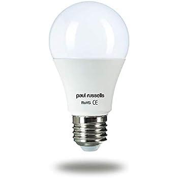 Paul Russells - 2 bombillas LED de repuesto incandescentes de 15 W=125 W, casquillo E27 ES Edison 15 W estándar A60 Globe 270 2700 K, luz blanca cálida de ...