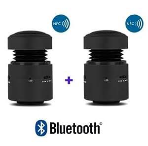 Enceintes Vibrantes Bluetooth Stéréo NFC TRUE WIRELESS Cyber Express Haut Parleur sans fil vibration speaker 12 W pour Iphone et autres appareils VBTW