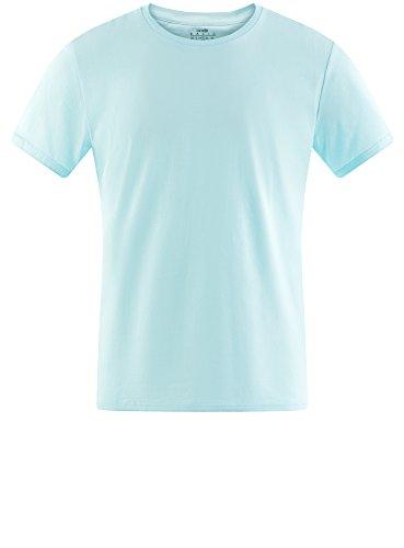 oodji Ultra Uomo T-Shirt Basic Turchese (7300N)