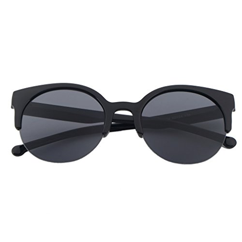 ulable Fashion Unisex Classic Rund Kreis Rahmen semi-rimless Eyewear Sonnenbrille