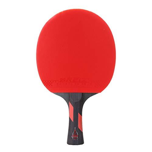 Heaviesk Tischtennisschläger Tischtennisschläger kurz oder langem Griff Shake-Hand-Ping-Pong-Paddel-Spiel-Trainingsschläger mit Fall