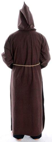 Mönchskutte Mittelalter Kleidung Kutte Mönchsrobe schwarz M mit Schnur Braun